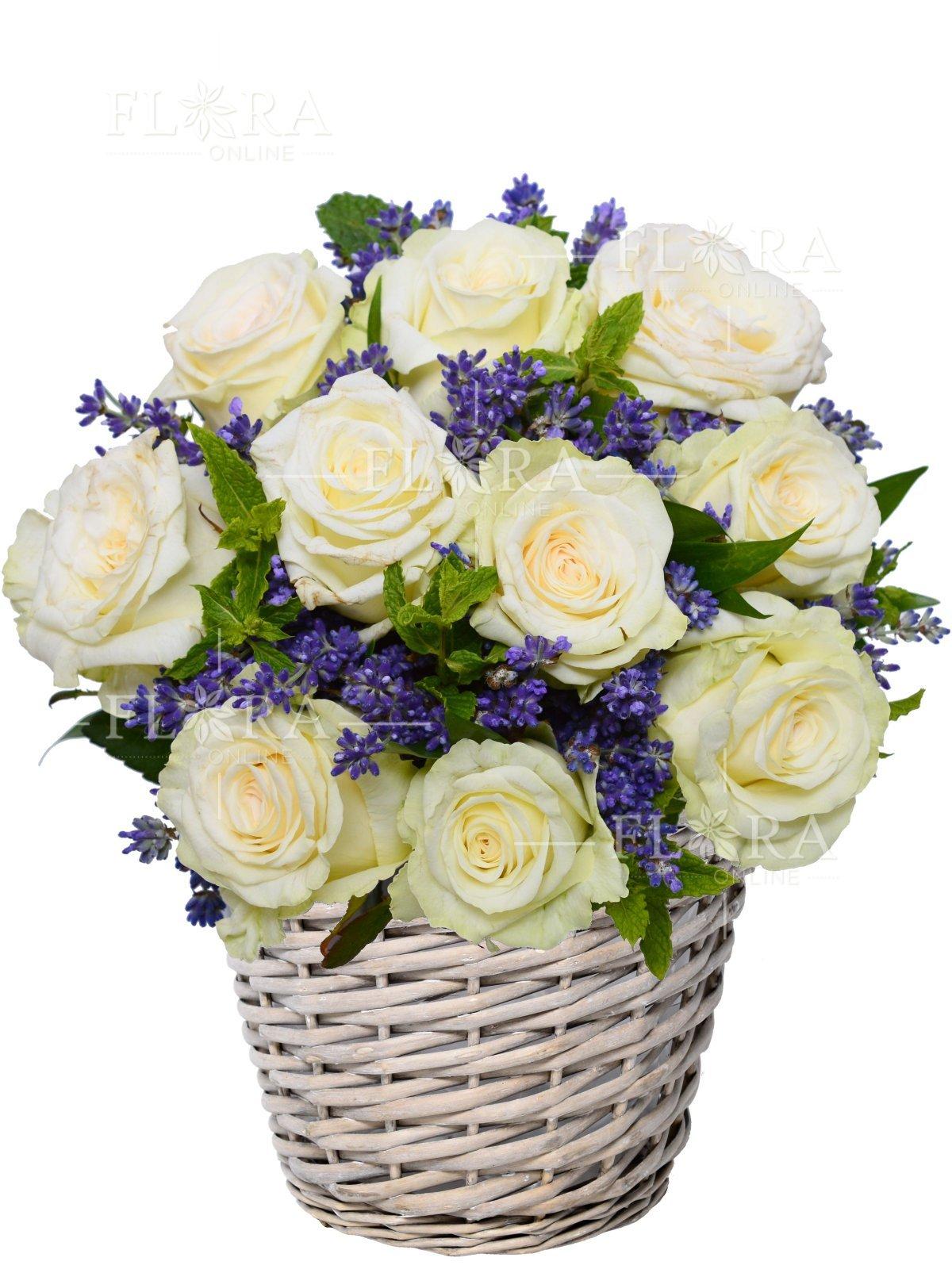 Flower basket chanel roses flora online discount 388 on your next purchase beautiful flower basket izmirmasajfo